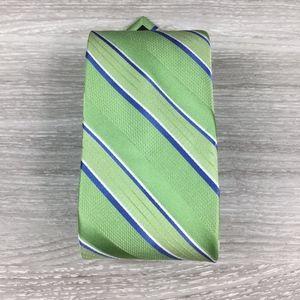 Stafford Green & Blue Stripped Silk Tie